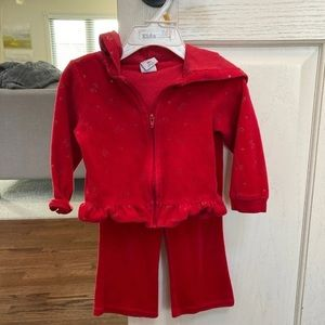 Super Sweet Ruffle Fleece Tracksuit- 18 months